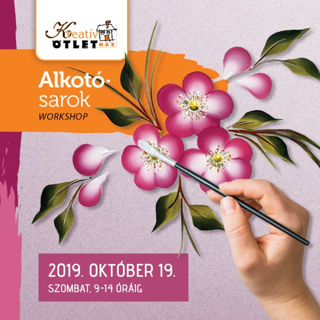 Kreativ Alkotosarok workshop 2019