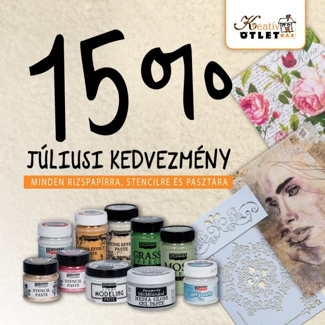 Júliusi 15% villámakció
