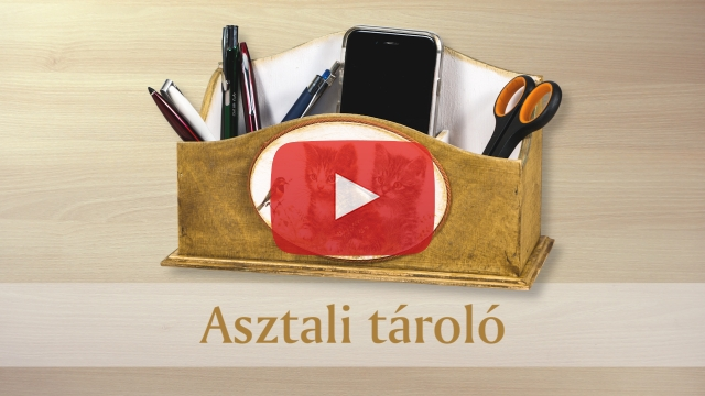 Kreativ Otlethaz asztali tarolo diy video